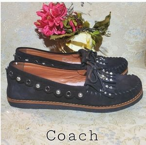 Coach Suede Leather With Dinosaur Charm Shoes